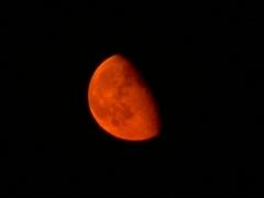 A kelő Hold Szegedről (Csák Balázs felvétele, 2006. 09. 12., 21:26 NYISZ, Panasonic DMC-FZ15, f/2.8, 1/4 sec, f=72 mm (420 mm ekvivalens), ISO 64)