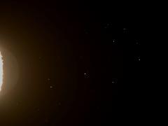 Zseli József felvétele a Fiastyúkról és a Holdról a jelenség után (100/500 TeleVue távcső és Canon 10D)