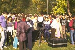 Részleges napfogyatkozás bemutató a Budapesti Planetáriumnál