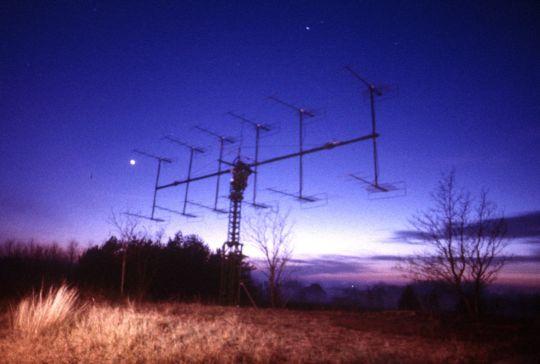 A meteorészlelő antenna a szegedi úti csillagvizsgáló területén