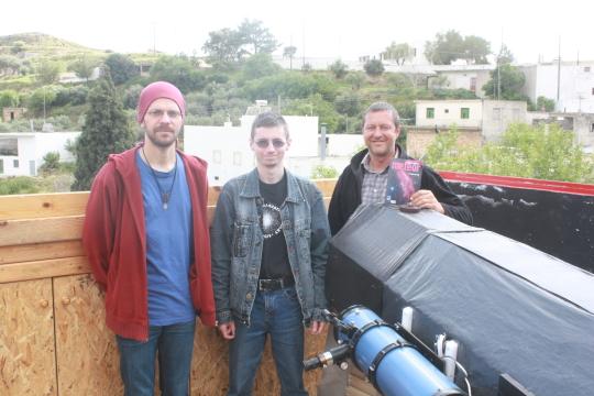 Meteorral a világ körül: Filip Feys magán-csillagvizsgálójában Aghios Stephanosban
