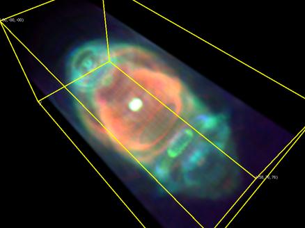 A Szaturnusz-köd térbeli rekonstrukciója
