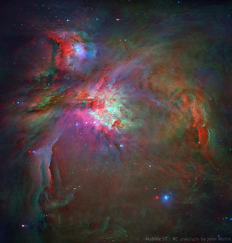 Anaglif Orion-köd