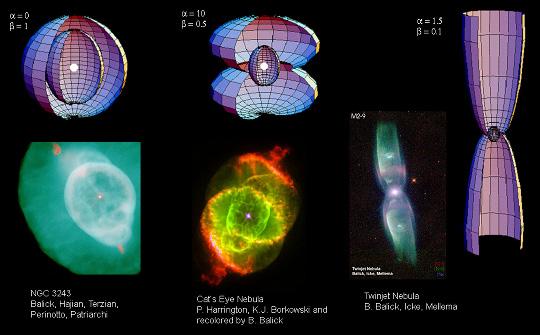 Három planetárisköd-egyéniség: NGC 3242, NGC 6543, Minkowski 2-9