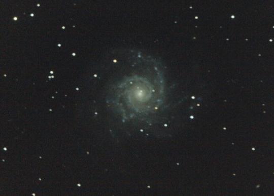 Az M74 Cserna Antal fotóján (250/1250 Newton, Canon 350D, 10 x 5 perc, ISO800, Újhartyán)