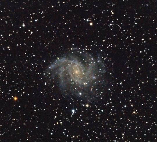Az NGC 6946 GX Cas Ábrahám Tamás fotóján (20T, Canon 400D, 31 x 1 perc, ISO 800, Zsámbék)