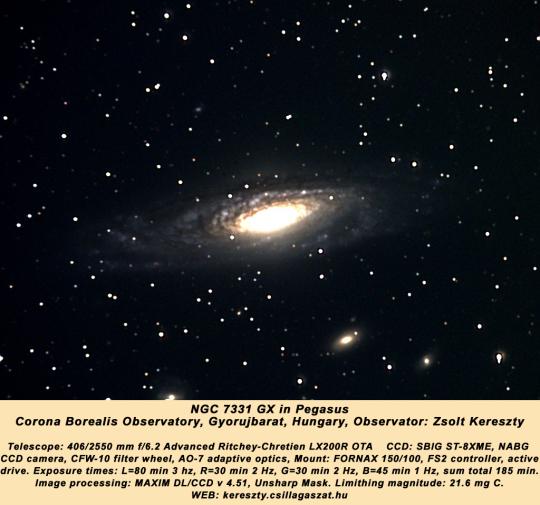 ...Kereszty Zsolt LRGB CCD-felvételén...