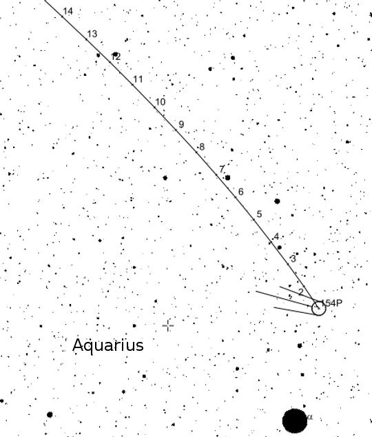 A Brewington-üstökös térképe