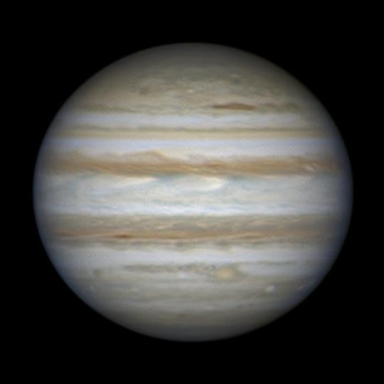 Oppozícióban a Jupiter! A felvételt Michal Vajda készítette 30 cm-es tükrös távcsővel december 27-én