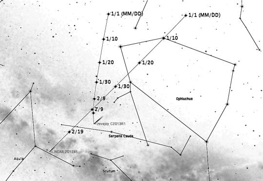 A C/2012 X1 (LINEAR) és a Lovejoy-üstökös randevúja feb. 9-én