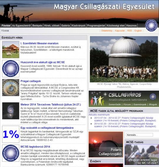 A www.mcse.hu 2014. február 26-án