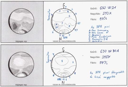 Cseh Viktor rajzai a Marsról március 5-én készültek (10 L, 250x)