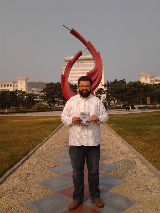 Facskó Gábor Kínában, Weihaiban, a Shandong Egyetemen.