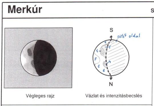 A Merkúr Cseh  Viktor május 25-i rajzán (102/1000 L, 250x).