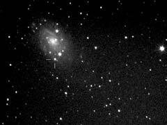 3. ábra. Az SN 2004dj jelű szupernóva (Tordai Tamás CCD-felvétele, Polaris, 2004.09.29., 150/750-es Newton-reflektor, Meade Pictor 416 XT kamera, 6×1 perc)