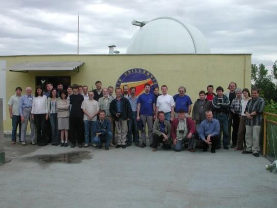 Csillagvizsgló-találkozó a Polarisban, 2004. május 22-én.