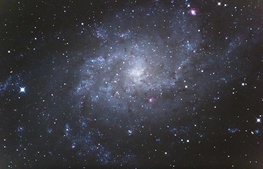 Az M33 struktúrája tökéletesen kivehető ezen a  270 másodperces expozíción.