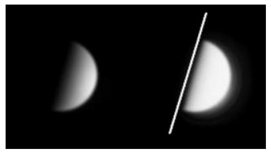 A Vénusz dichotómiája 2013. március 25-én, Nagy Tibor felvételén.