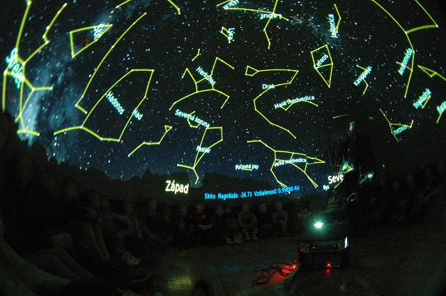Planetáriumi bemutató az Astrofilm 2012-es eseményei között