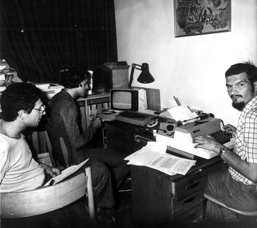 Munkában a szerkesztők: Tepliczky István, Mizser Attila és Both Előd (1984)