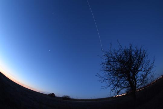A Nemzetközi Űrállomás átvonulása Veszprémből (Landy-Gyebnár Mónika).