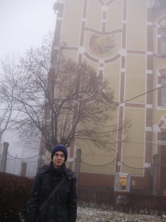 Dálya Gergely  ködös időben kereste fel a Diana utcai napórát.