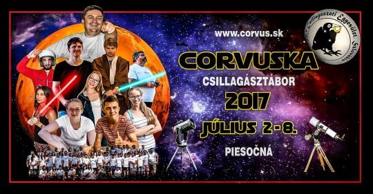 Corvuska 2017 csillagásztábor @ Škola v prírode | Moravský Svätý Ján | Szlovákia