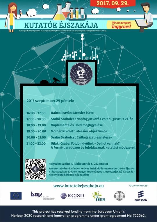 Kutatók Éjszakája Szolnokon @ Toronyház | Szolnok | Magyarország