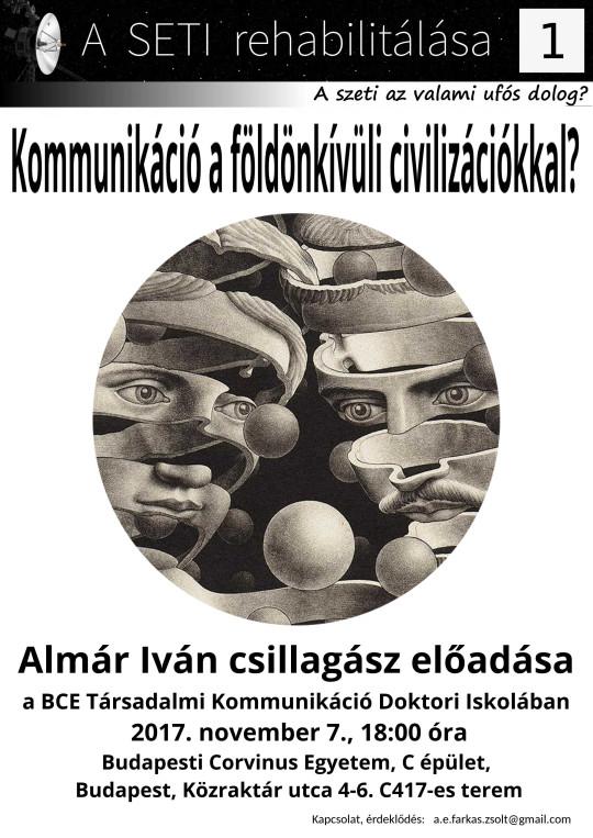 Kommunikáció a földönkívüli civilizációkkal? @ Budapesti Corvinus Egyetem, C épület | Budapest | Magyarország