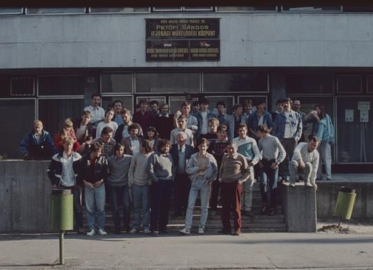 MMTÉH-PVH találkozó Győrött, 1987. október 3-án. (Mizser Attila felvétele)