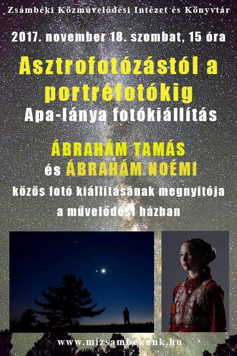 Asztrofotózástól a portréfotózásig @ Zsámbéki Közművelődési Intézet és Könyvtár | Zsámbék | Magyarország