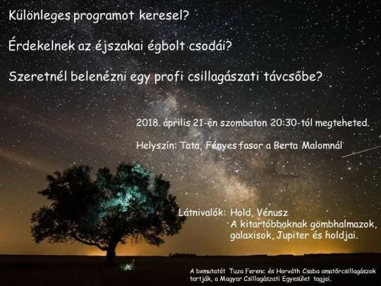 Csillagászat Napja Tatán @ Tata, Berta-malom | Tata | Magyarország