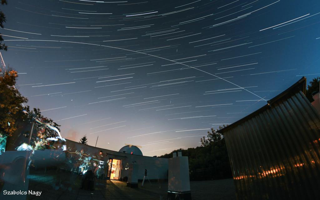 A Nemzetközi Űrállomás átvonulása a Polaris fölött, Nagy Szabolcs felvételén.