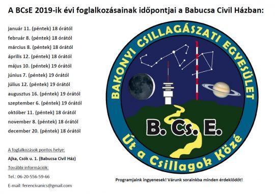 Bakonyi Csillagászati Egyesület klubfoglalkozása @ Babucsa Civil Ház