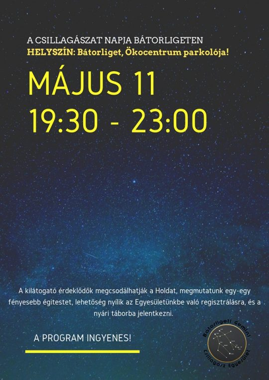 Csillagászat Napja Bátorligeten @ Ökocentrum parkolója