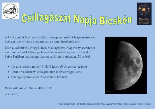Csillagászat Napja Bicskén @ Bicske Szíve Park