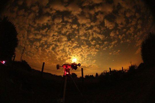 First light! Csukovics Tibor varázslatos felvétele a július 16-i holdfogytakozásról, az észlelőrét déli végéből.