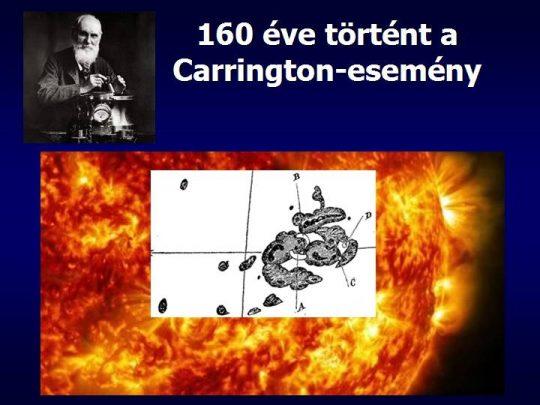 Mega-napvihar 160 évvel ezelőtt: a Carrington-esemény (Tóth Imre) @ Óbudai Polaris Csillagvizsgáló