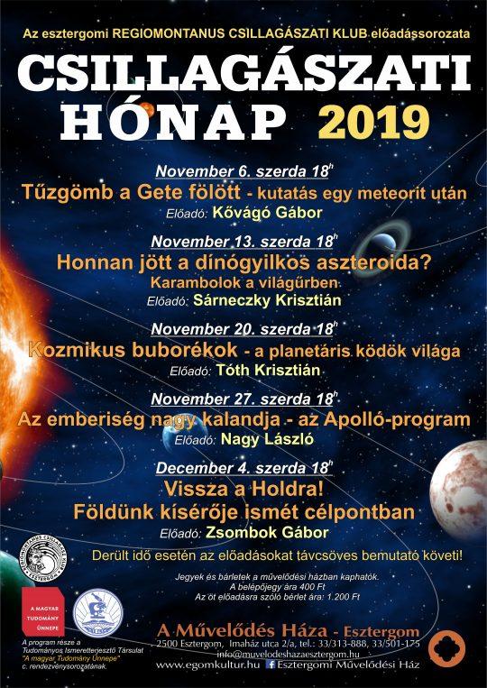 Csillagászati Hónap @ A Művelődés Háza